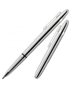 Fisher Space Pen Bullet chrome with clip 400cl closed laying