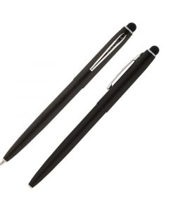 Cap-O-Matic Space Pen, Matte Black/Chrome, Stylus
