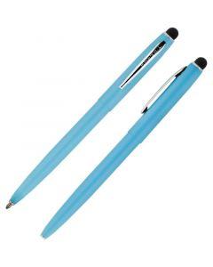 Cap-O-Matic Space Pen, Blue/Chrome, Stylus