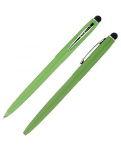 Cap-O-Matic Space Pen, Green/Chrome, Stylus