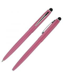 Cap-O-Matic Space Pen, Pink/Chrome, Stylus