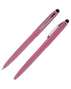 Cap-O-Matic Space Pen, Pink/Chrome, Stylus